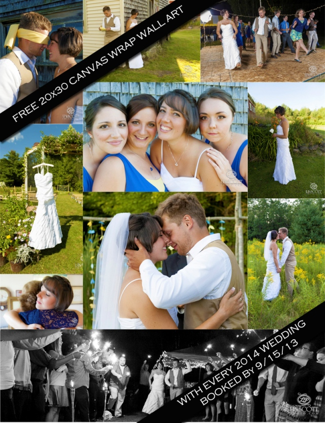 Pick your favorite shot from your wedding for the focal point in your home.